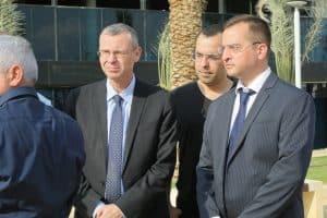 רונן מרדכי גרין עם שר התיירות וחגי אדורם